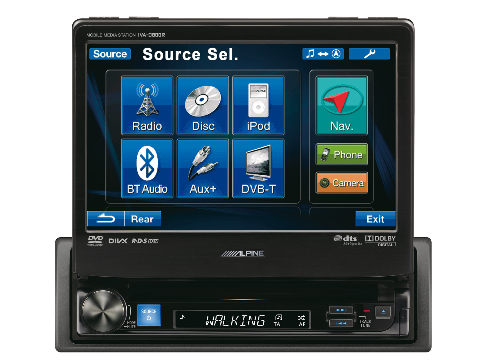 1din Mobile Media Station Alpine Iva D800r Wiring Additionally 10 Inch Subwoofer Type R On