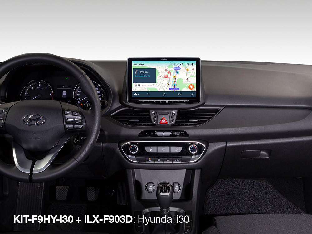 Alpine iLX-F903D installation Kit for Hyundai i30 from 2017