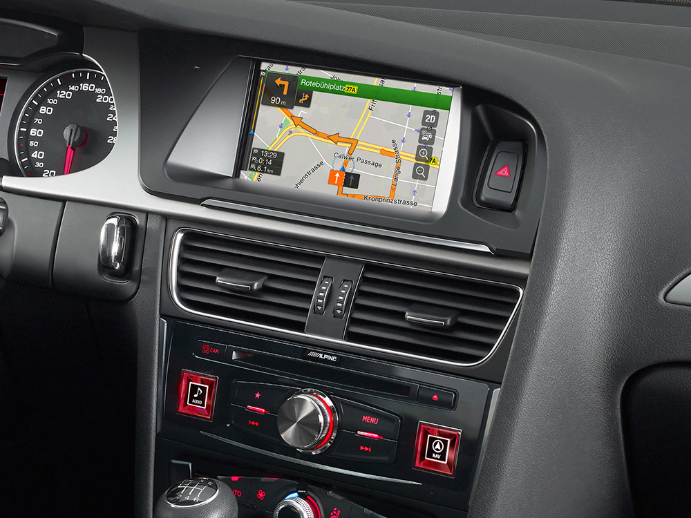 7inch Touch Screen Navigation For Audi A4 With Tomtom Maps Rhalpineelectronicscoza: 2007 Audi A4 B7 Aftermarket Radio At Elf-jo.com
