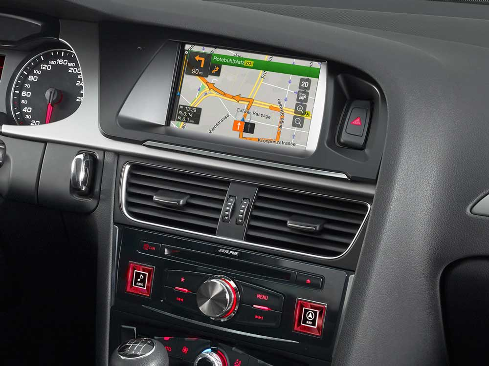 Navigation System For Audi A4 And A5 Alpine X701d A4r