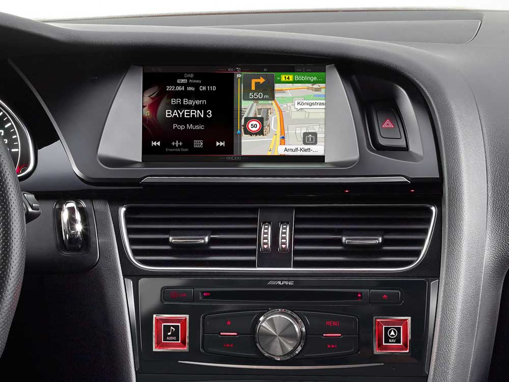 Navigation system for audi a4 and a5 alpine x701d a4r for Lederen interieur audi a4
