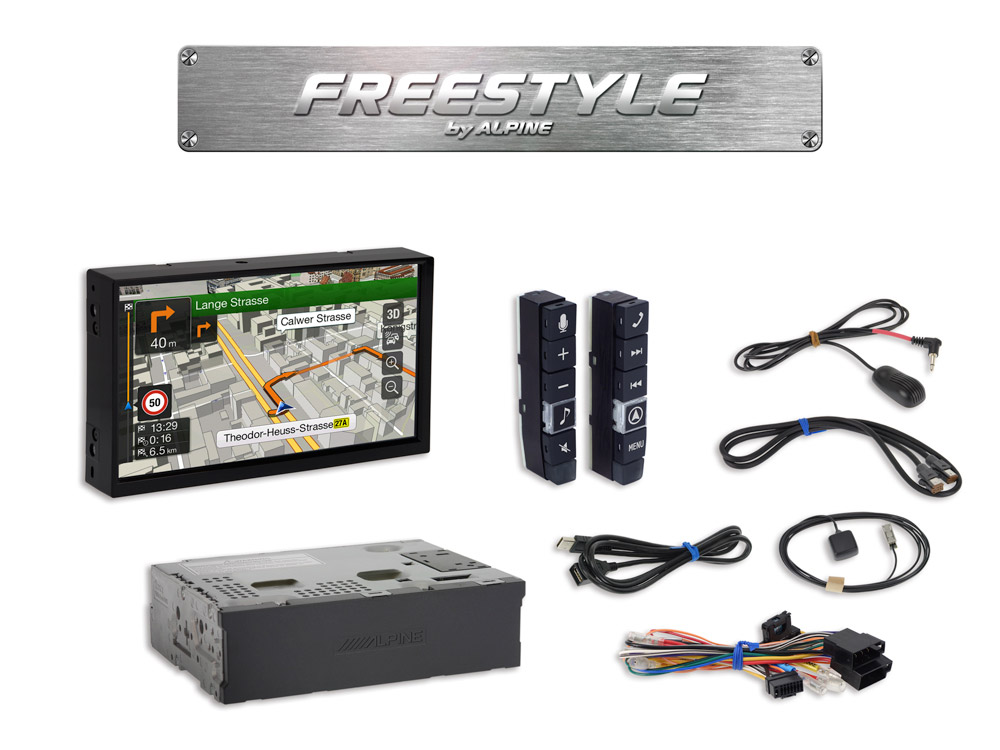 Freestyle 7-inch Navigation System for custom installation with