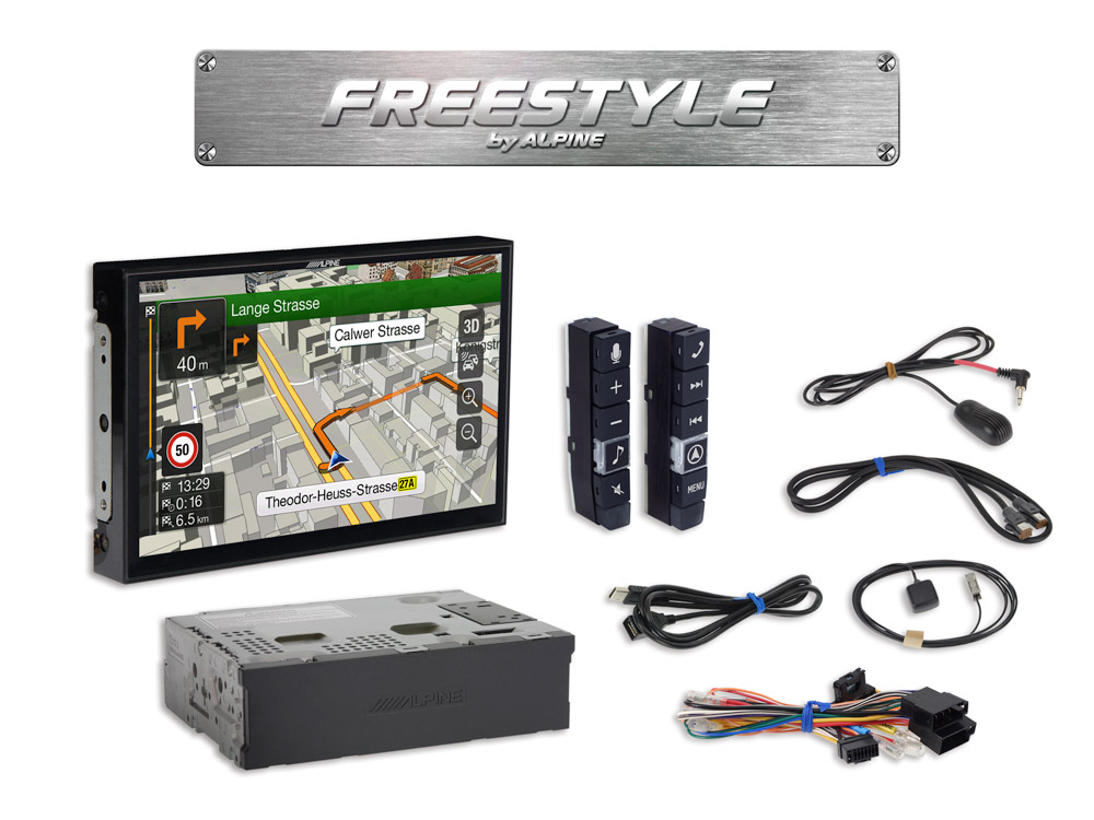 Freestyle 9inch Navigation System For Custom Installation With Tomtom Maps Compatible Apple Carplay And Android Auto Alpine X902df: 2013 Vw Navigation Wiring Diagram At Gundyle.co