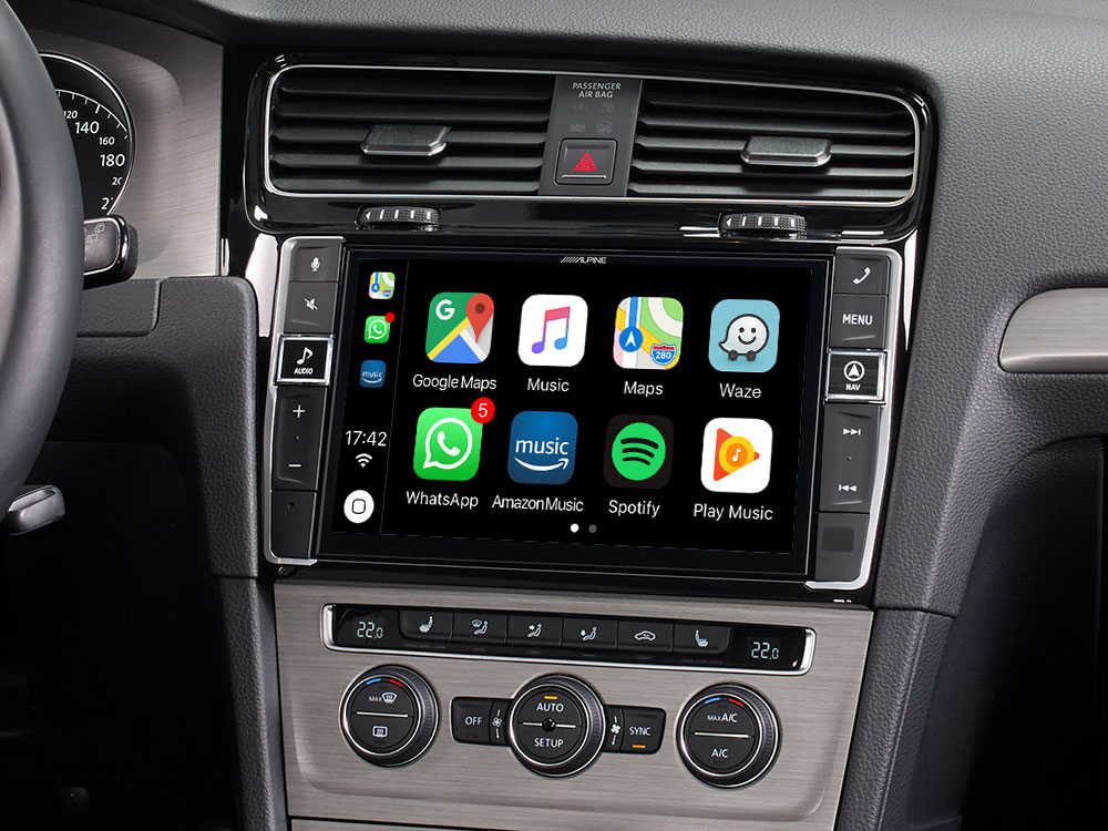 9 mobile media system for volkswagen golf 7 featuring apple carplay and android auto. Black Bedroom Furniture Sets. Home Design Ideas
