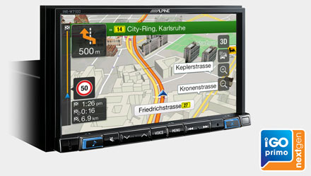 """7"""" Touch Screen Navigation with TomTom maps, compatible with Apple"""