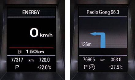 Audi A4 - X702D-A4R: Driver Information Display