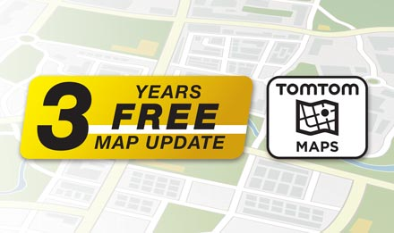 TomTom Maps with 3 Years Free-of-charge updates - X702D-A4R