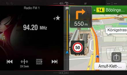 Audi A4 - Audi A5 Navigation System - X701D-A4R: One Look Display