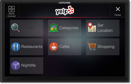 Yelp by Alpine Connect - Navigation System X901D-F