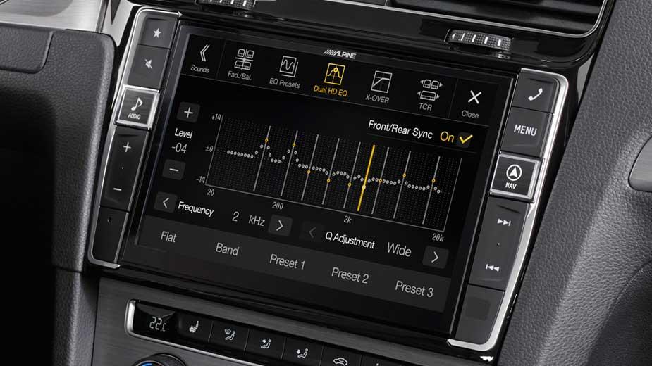 navigation system for volkswagen golf 7 - alpine - x901d-g7